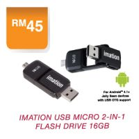 Imation USB Micro 2-in-1 Flash Drive 16GB